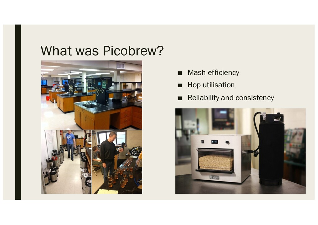 What was Picobrew? ■ Mash efficiency ■ Hop util...