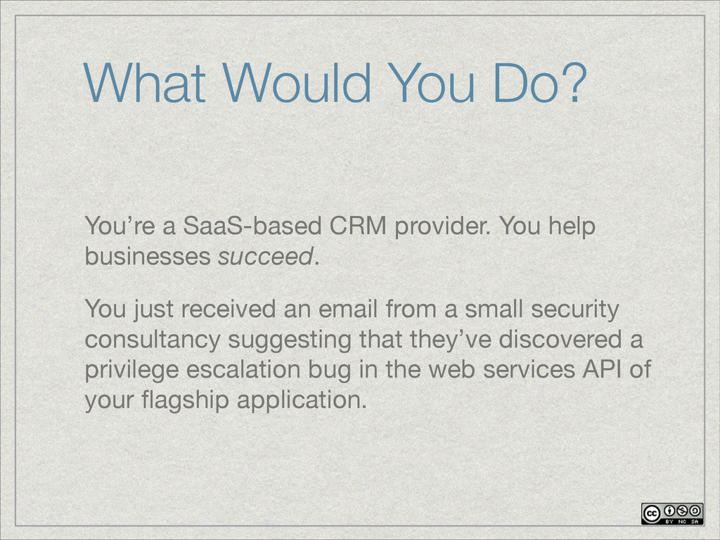 You're a SaaS-based CRM provider. You help busi...