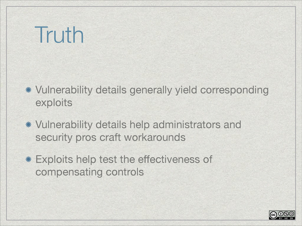 Truth Vulnerability details generally yield cor...