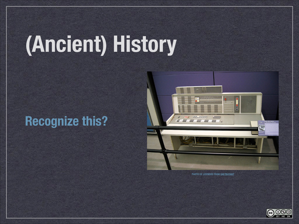 (Ancient) History Recognize this? PHOTO CC LICE...