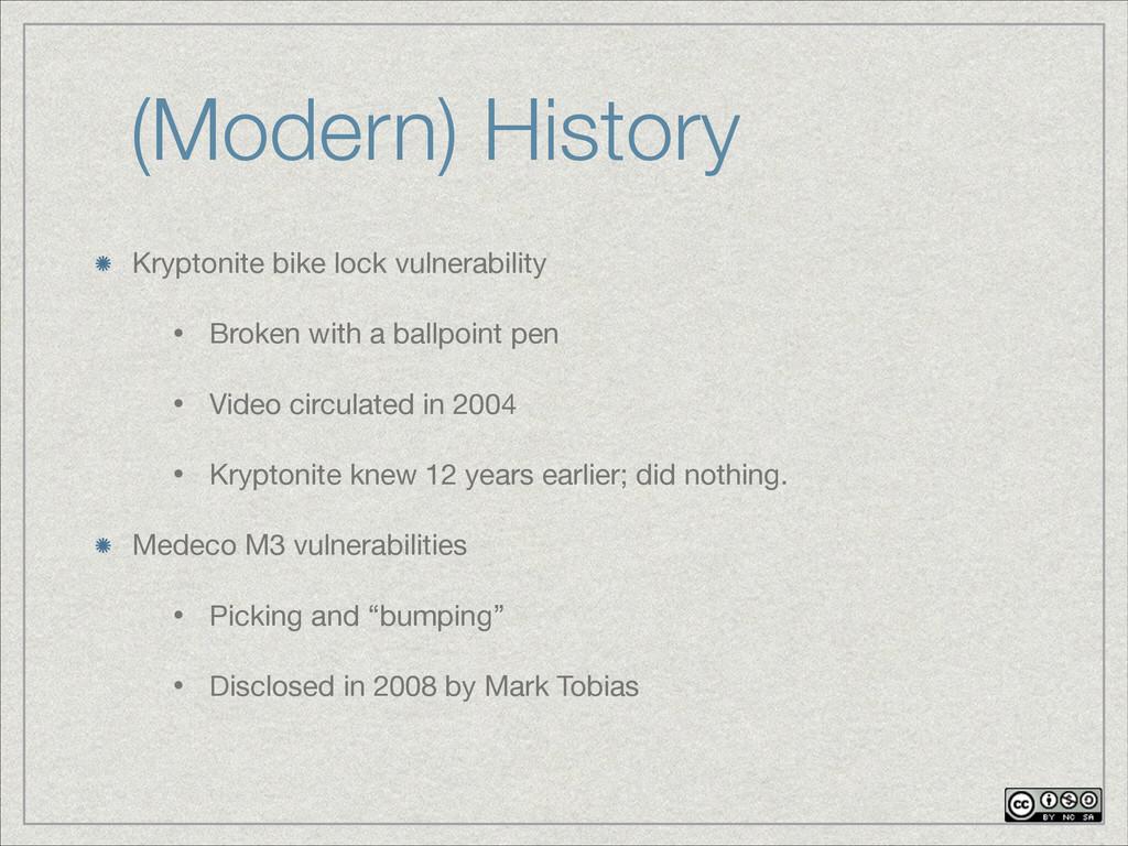 (Modern) History Kryptonite bike lock vulnerabi...
