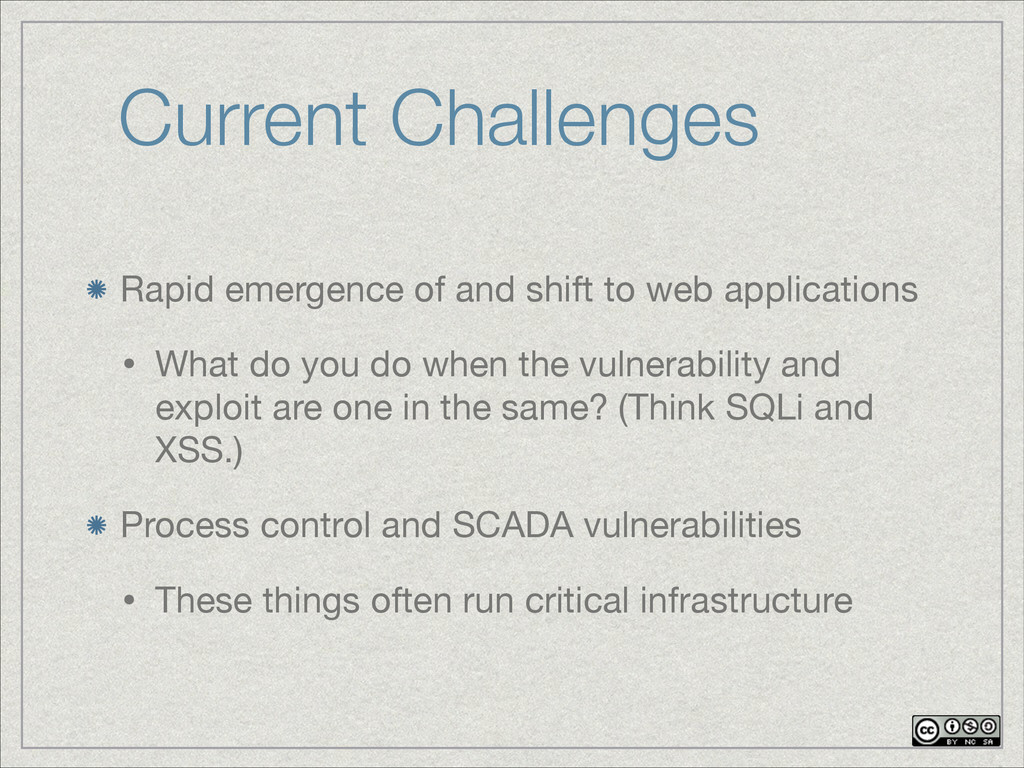 Current Challenges Rapid emergence of and shift...