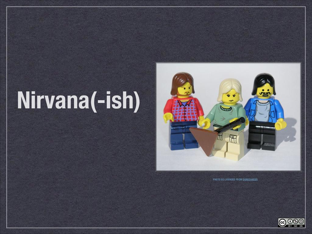 Nirvana(-ish) PHOTO CC LICENSED FROM DUNECHASER