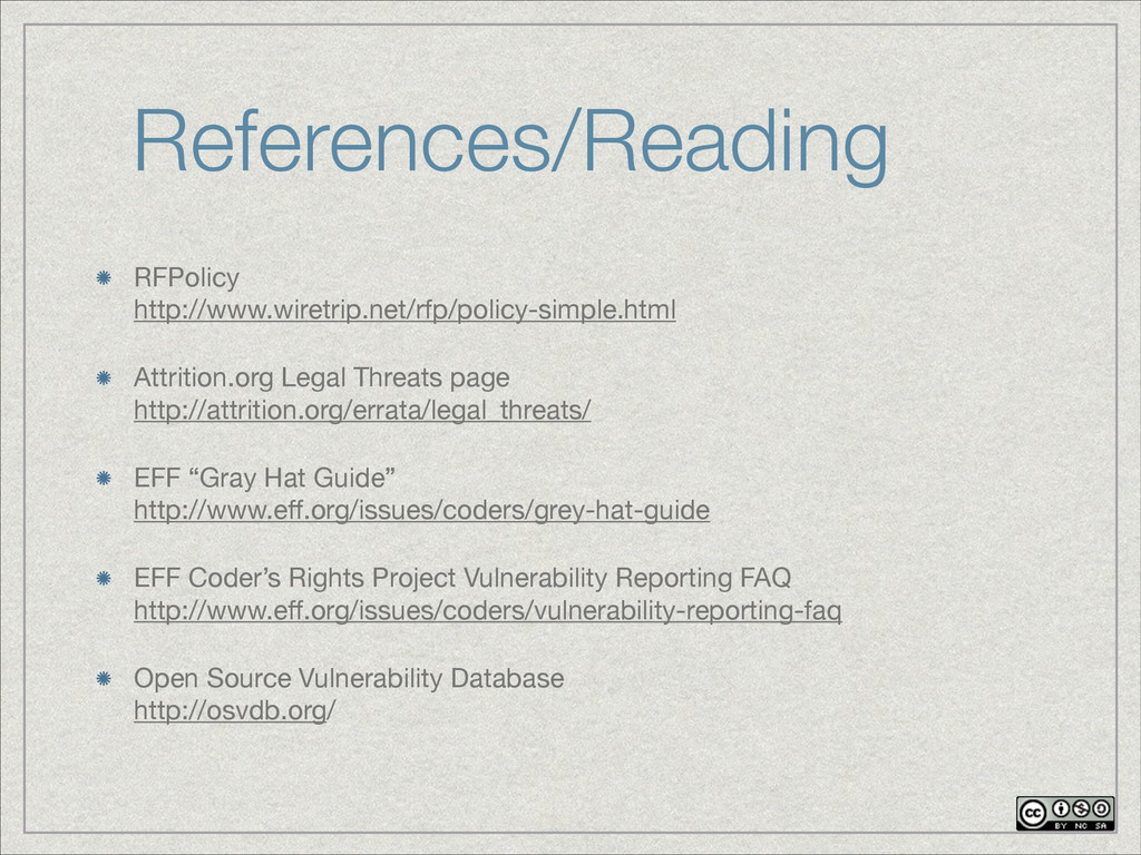 References/Reading RFPolicy http://www.wiretri...