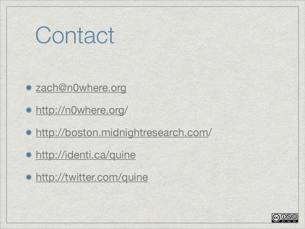 Contact zach@n0where.org  http://n0where.org/  ...