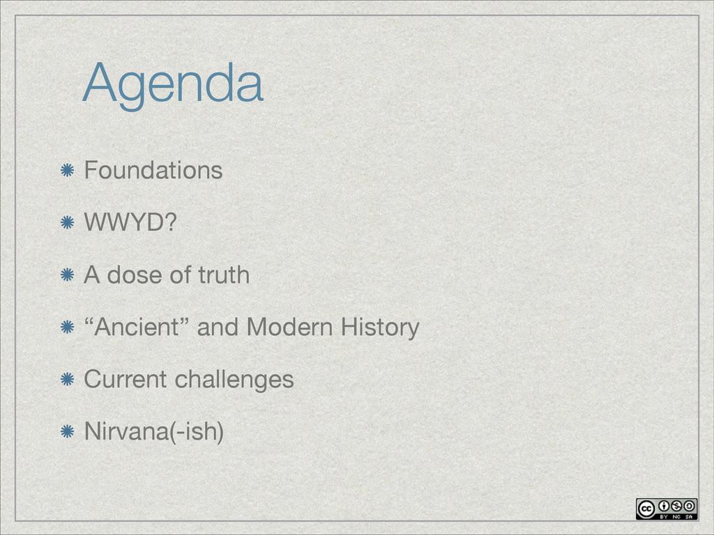 """Agenda Foundations  WWYD?  A dose of truth  """"An..."""