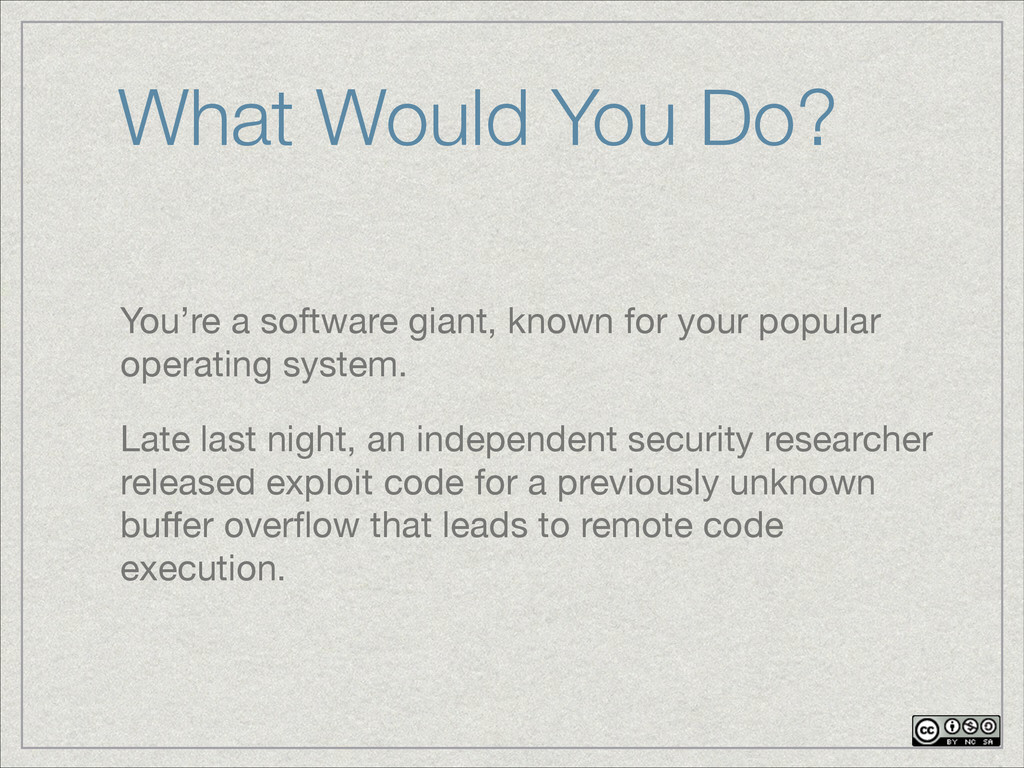 You're a software giant, known for your popular...
