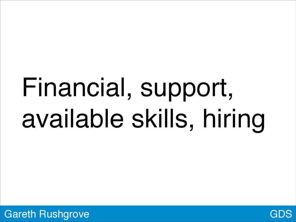 GDS Gareth Rushgrove Financial, support, availa...