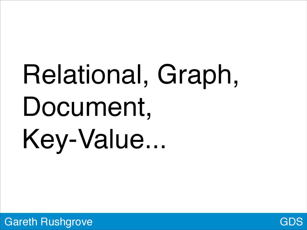 GDS Gareth Rushgrove Relational, Graph, Documen...