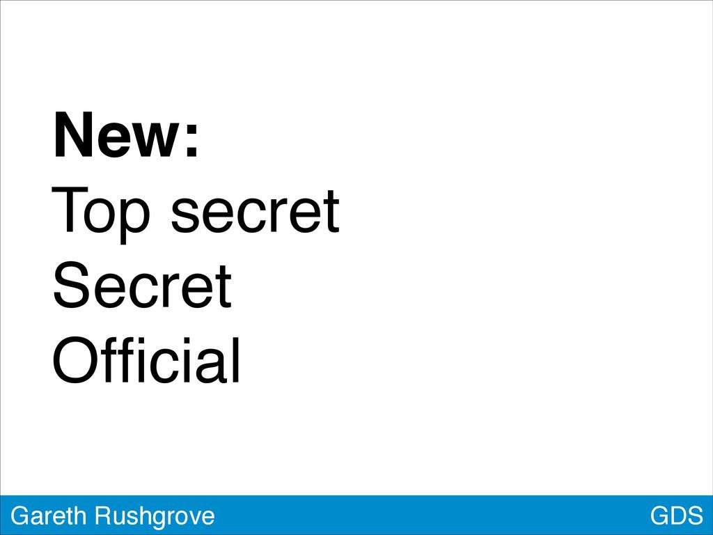 New:! Top secret! Secret! Official GDS Gareth Ru...