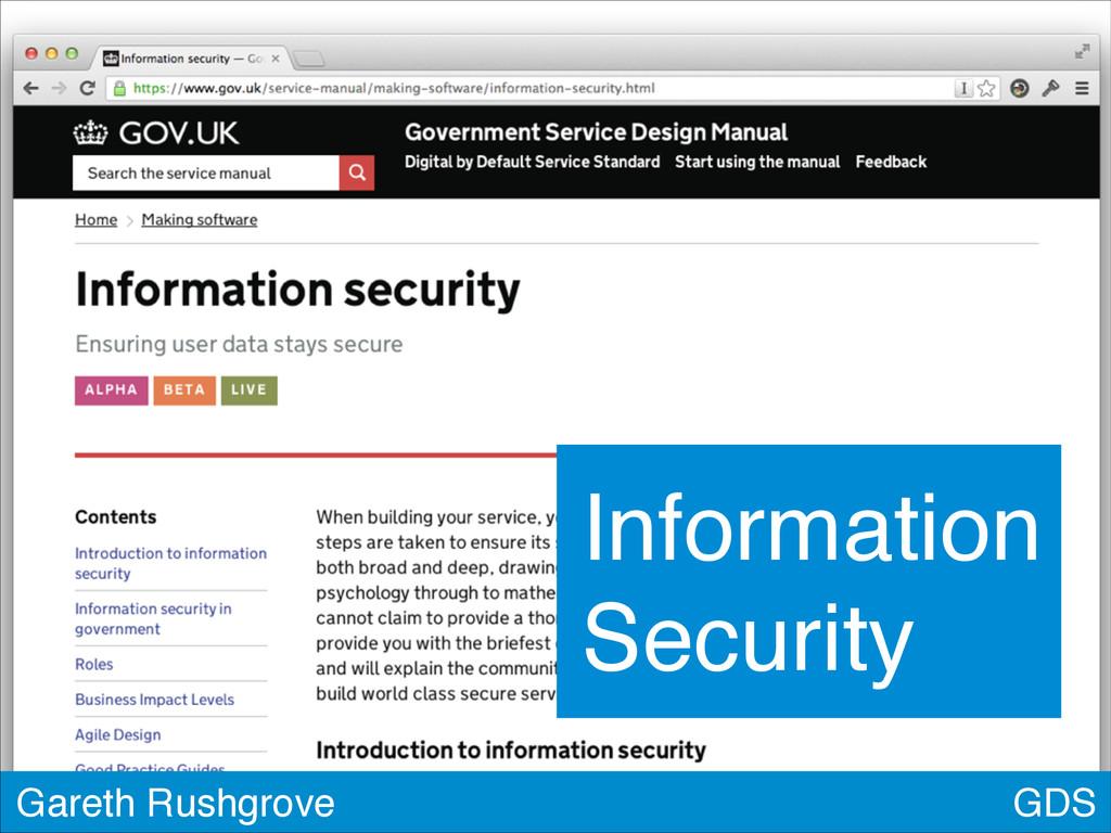 GDS Gareth Rushgrove Information Security