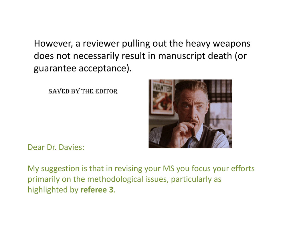 However a reviewer pulling out the heavy weapon...