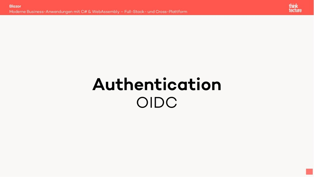 Authentication OIDC Moderne Business-Anwendunge...