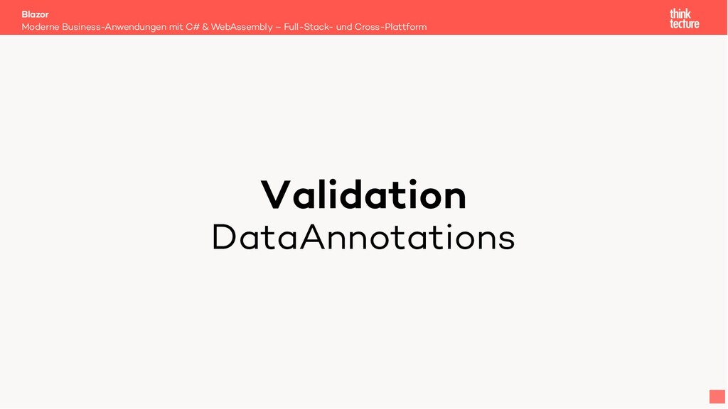 Validation DataAnnotations Moderne Business-Anw...
