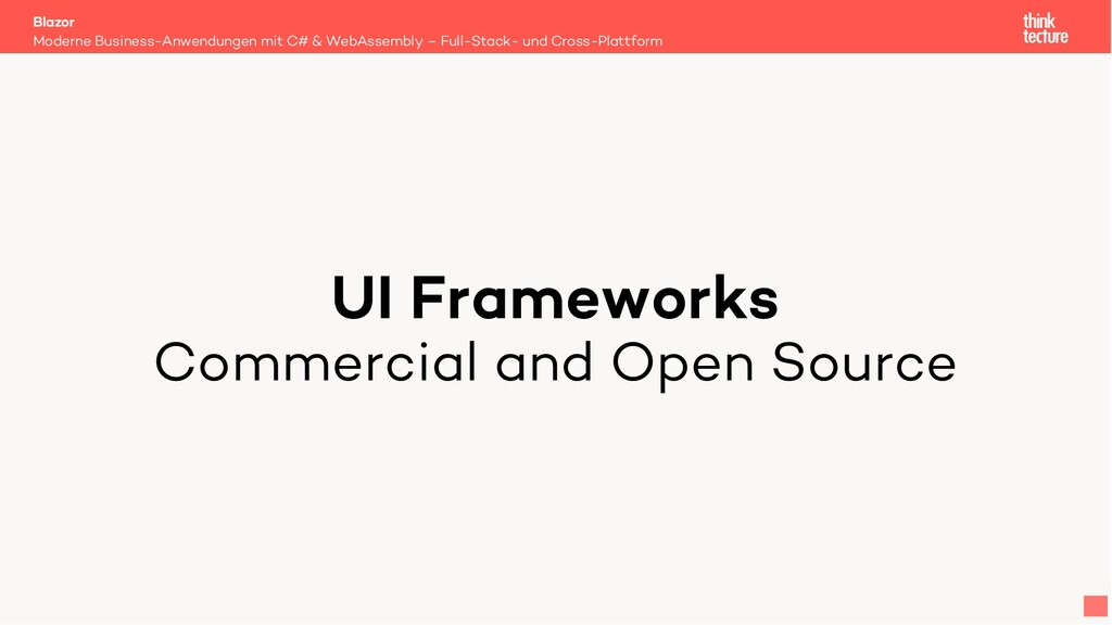 UI Frameworks Commercial and Open Source Modern...