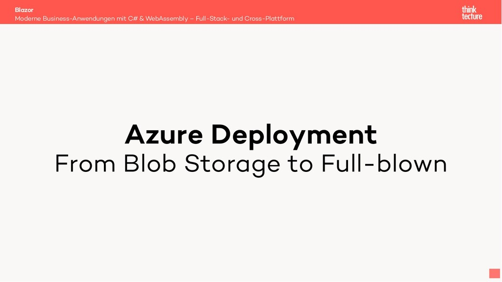 Azure Deployment From Blob Storage to Full-blow...