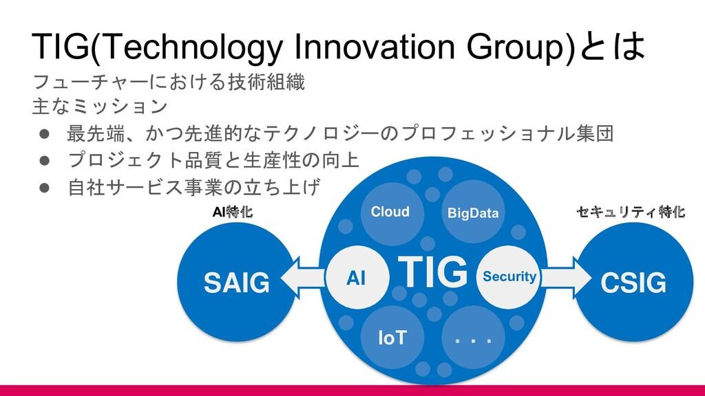 TIG(Technology Innovation Group)とは フューチャーにおける技術...