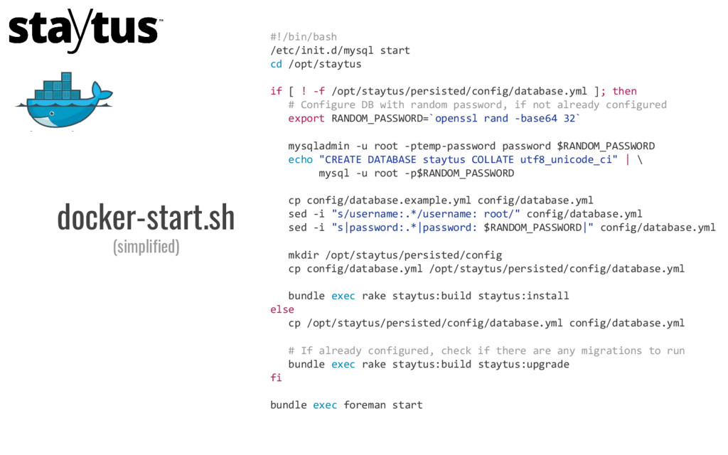 #!/bin/bash /etc/init.d/mysql start cd /opt/sta...