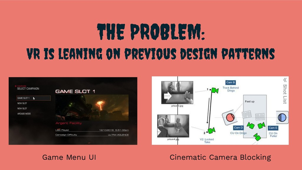 THE PROBLEM: VR is leaning on previous design p...