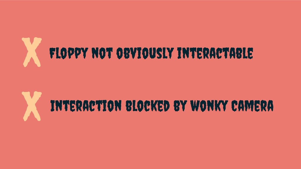 Floppy not obviously interactable Interaction b...