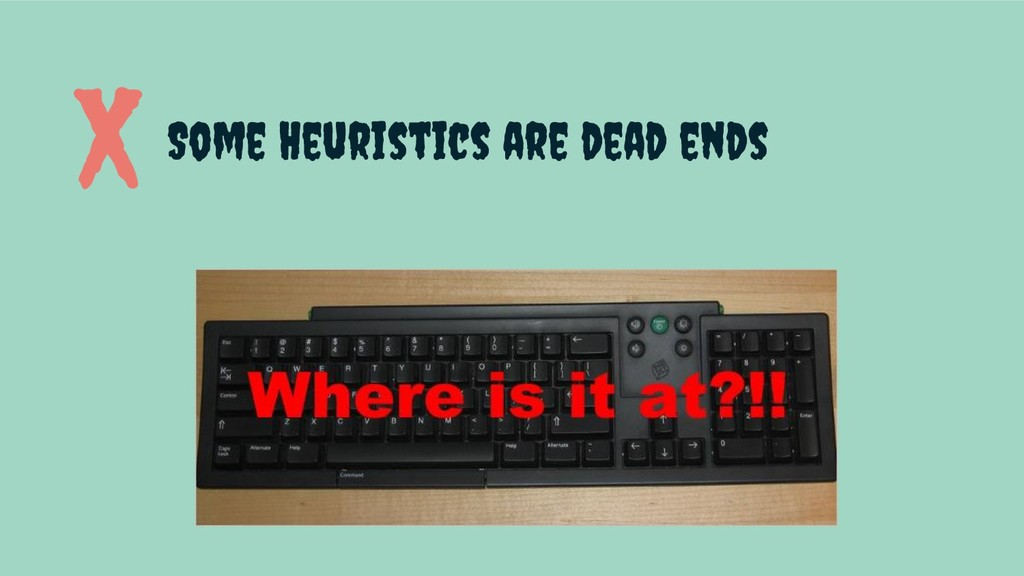 Some Heuristics are dead ends X