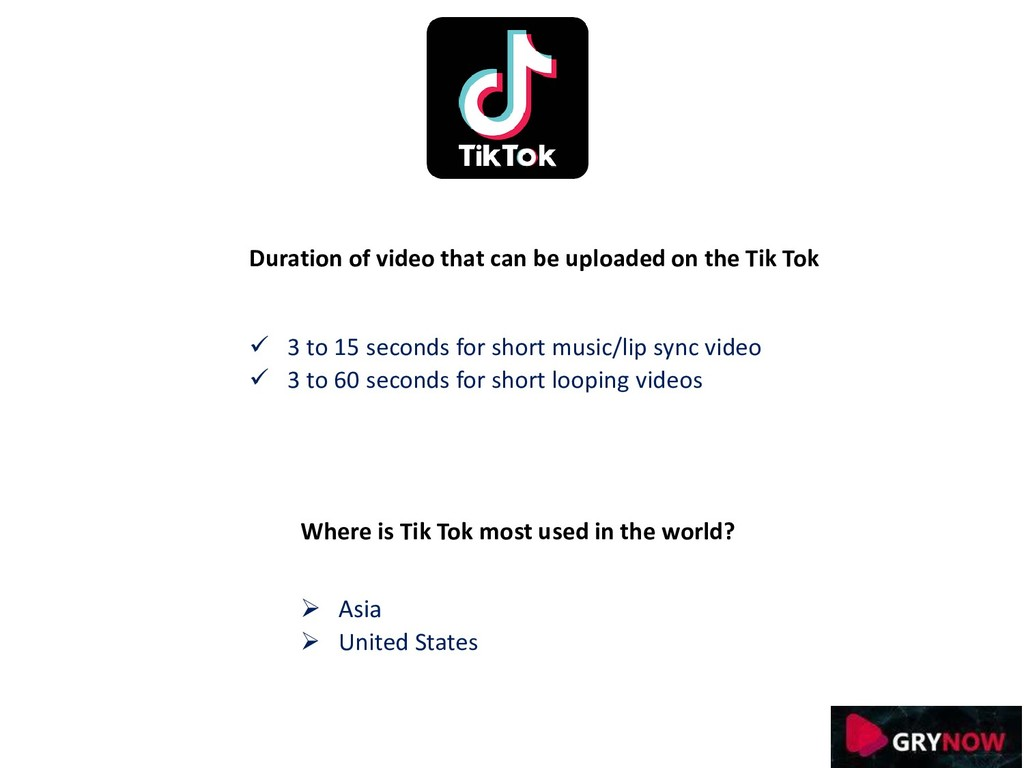 Duration of video that can be uploaded on the T...