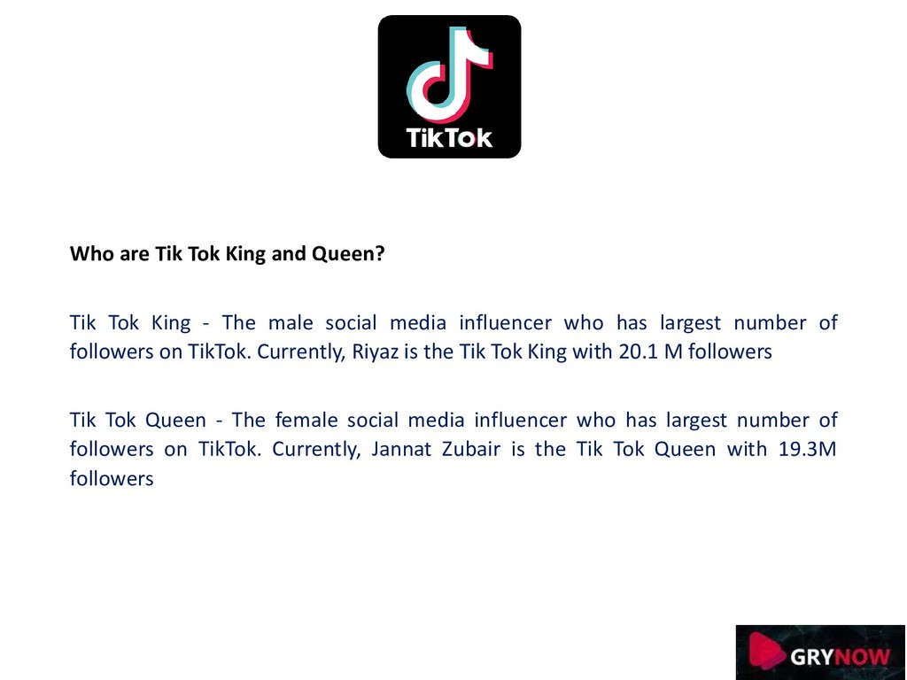 Who are Tik Tok King and Queen? Tik Tok King - ...