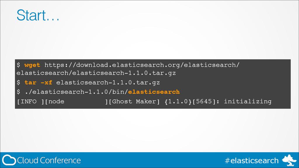 #elasticsearch Start… $ wget https://download.e...