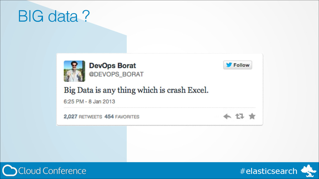 #elasticsearch BIG data ?