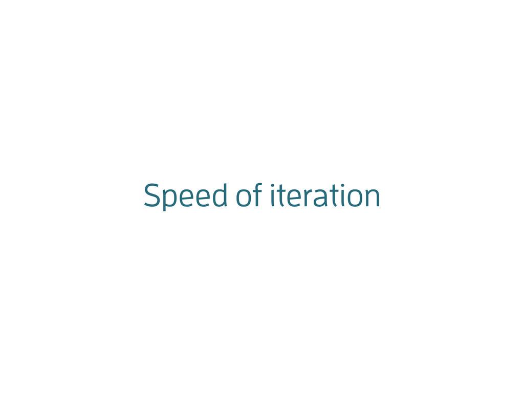 Speed of iteration