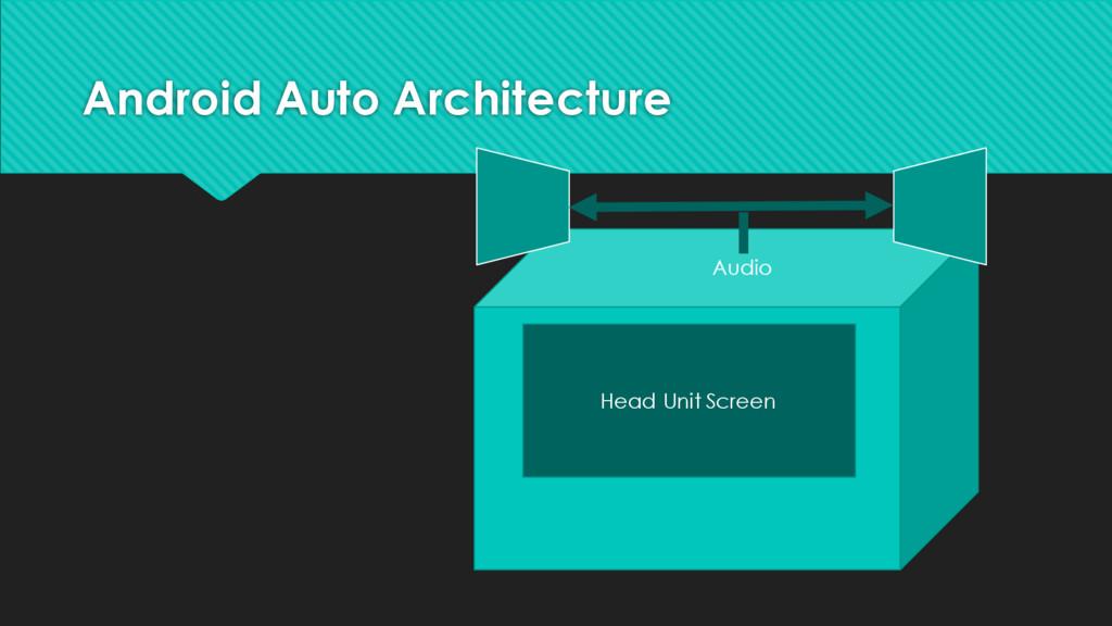 Android Auto Architecture Audio Head Unit Screen