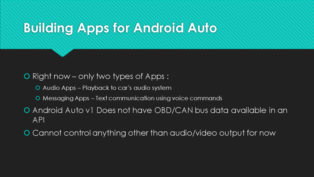 Building Apps for Android Auto š Right now – on...