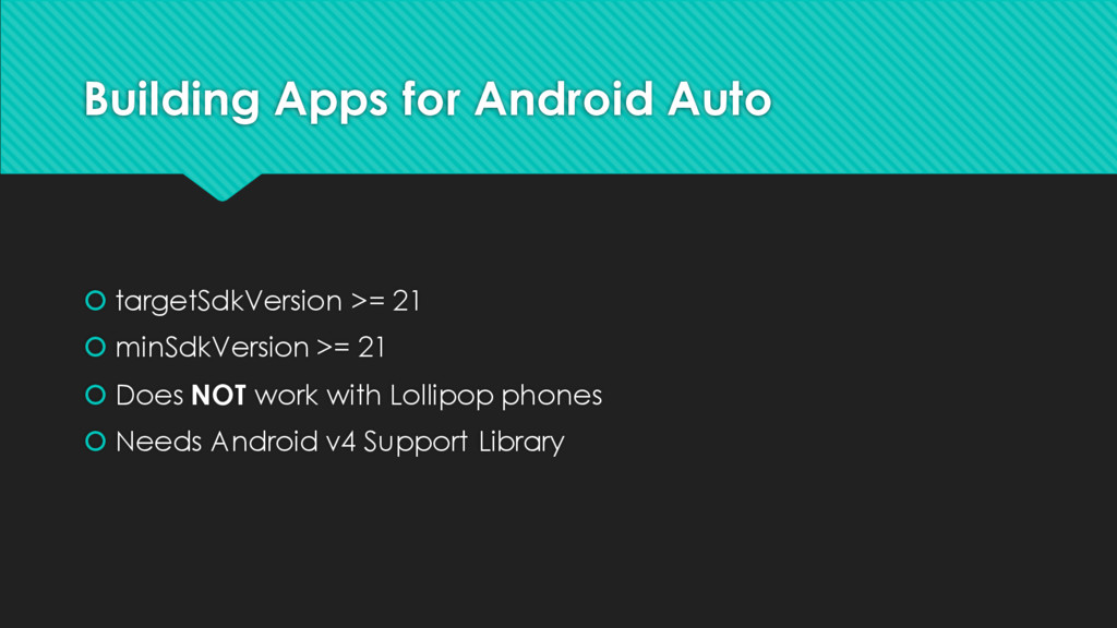Building Apps for Android Auto š targetSdkVersi...