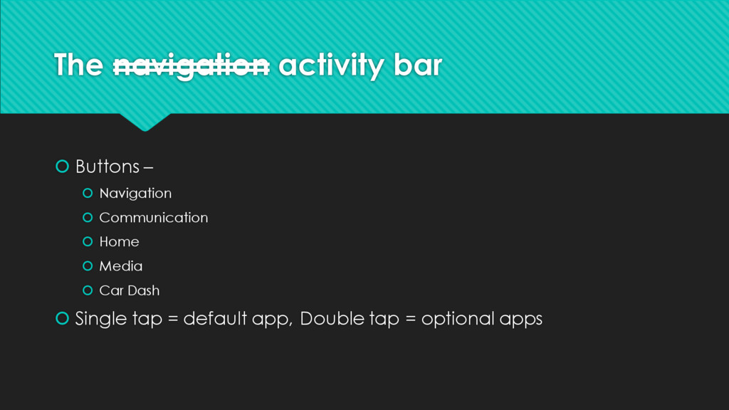 The navigation activity bar š Buttons – š Navig...
