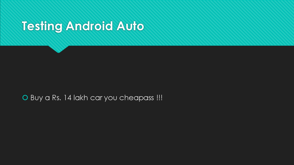 Testing Android Auto š Buy a Rs. 14 lakh car yo...