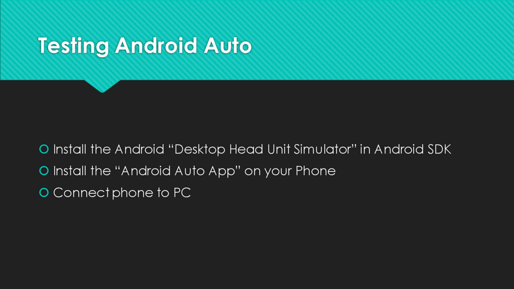 """Testing Android Auto š Install the Android """"Des..."""