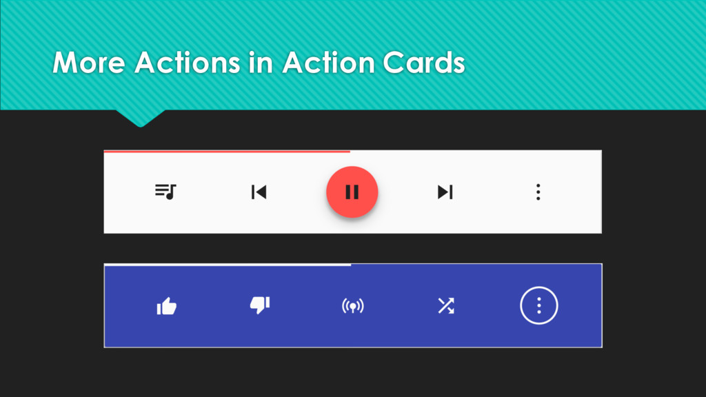 More Actions in Action Cards