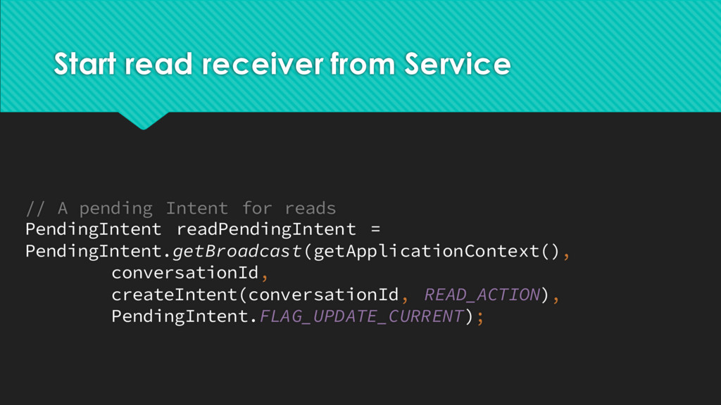Start read receiver from Service // A pending I...