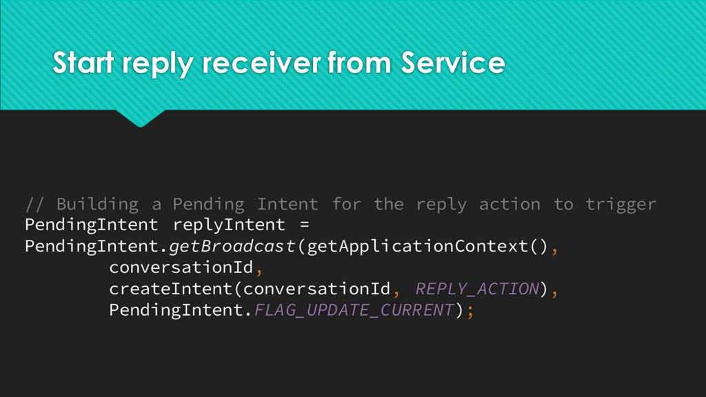 Start reply receiver from Service // Building a...