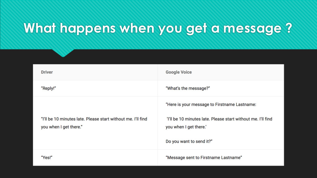 What happens when you get a message ?