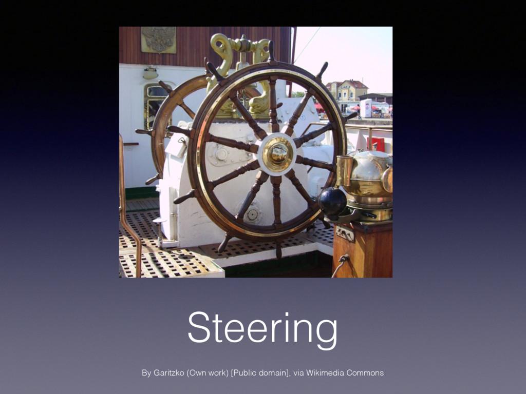 Steering By Garitzko (Own work) [Public domain]...