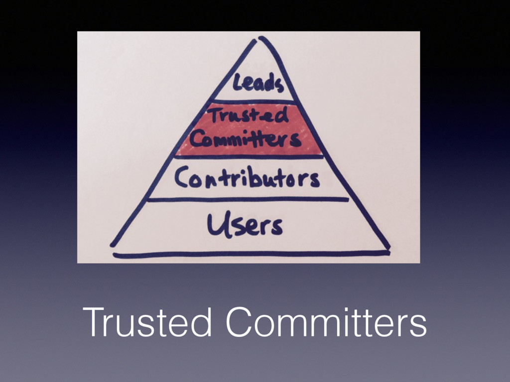 Trusted Committers