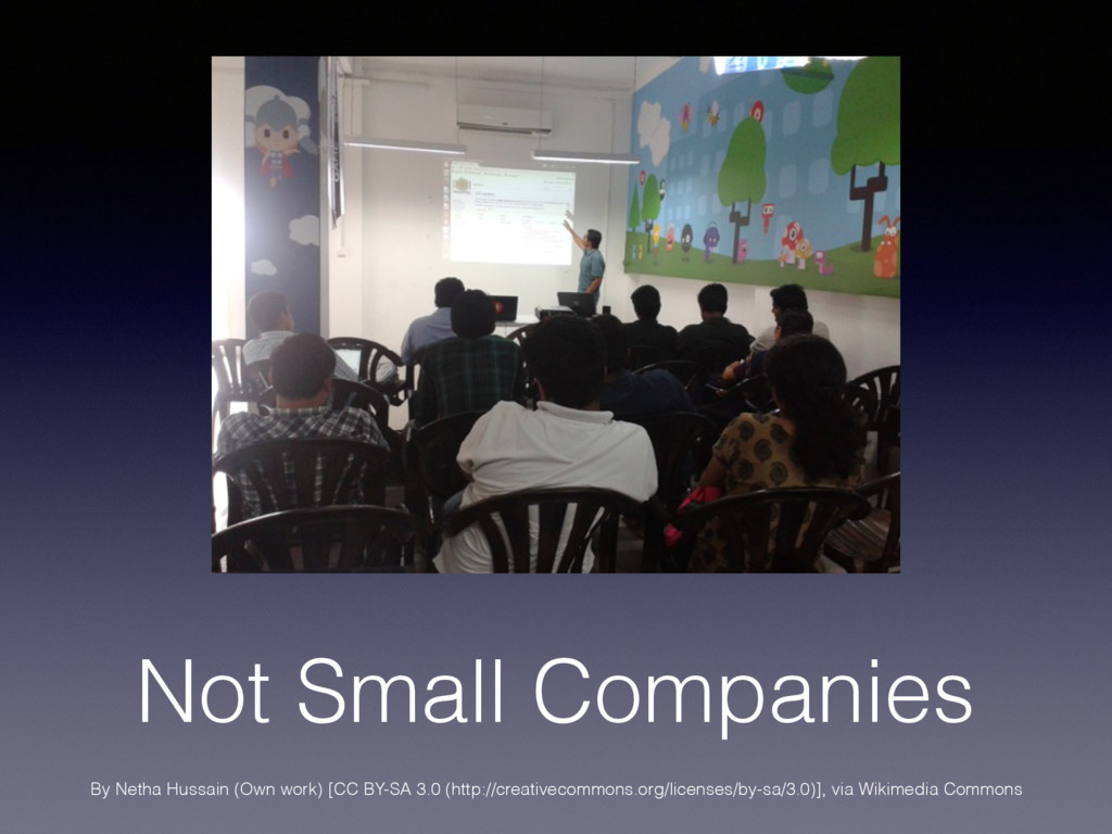 Not Small Companies By Netha Hussain (Own work)...