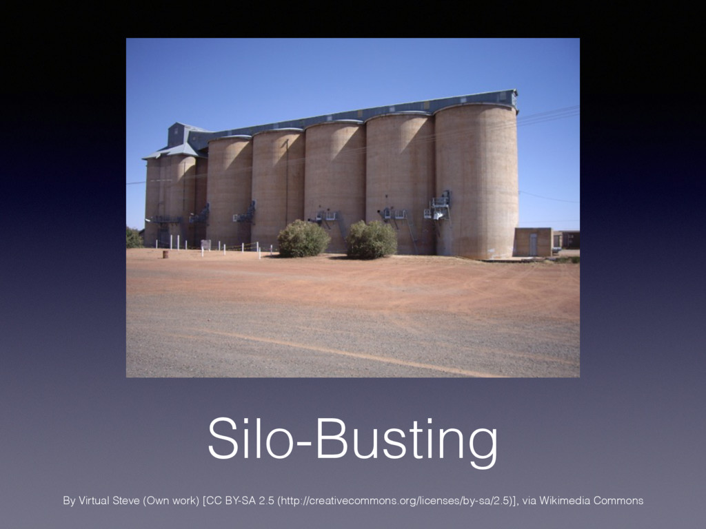 Silo-Busting By Virtual Steve (Own work) [CC BY...