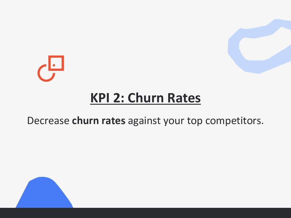 KPI 2: Churn Rates Decrease churn rates against...