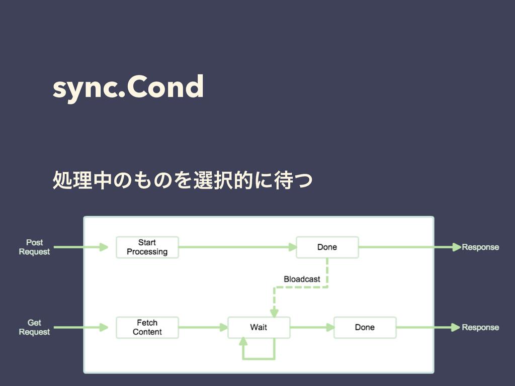 sync.Cond ॲཧதͷͷΛબతʹͭ