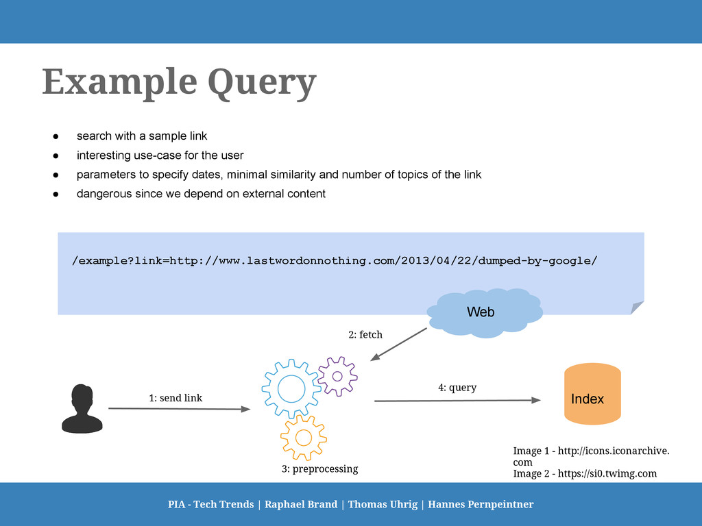 Example Query ● search with a sample link ● int...