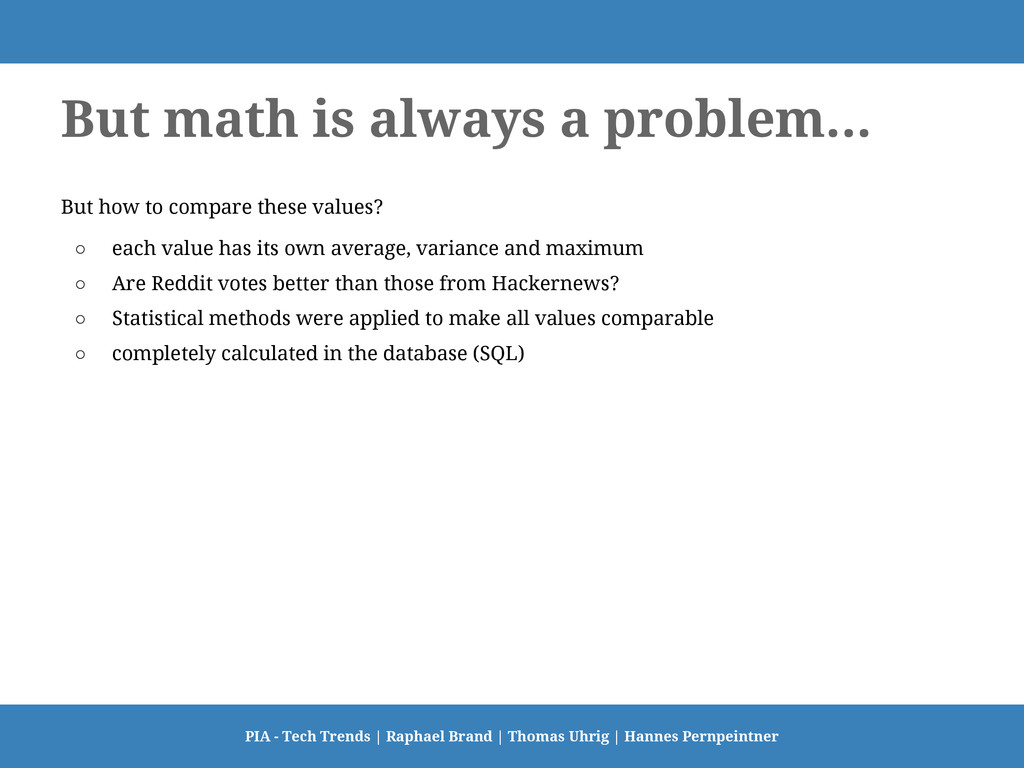 But math is always a problem... But how to comp...
