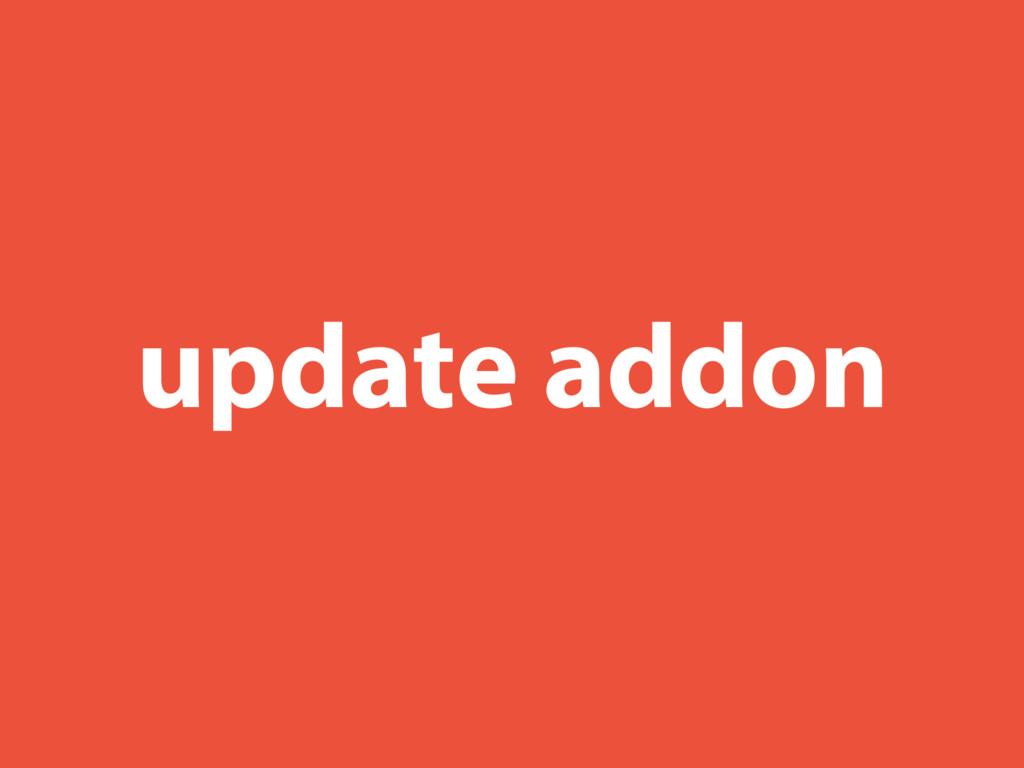 update addon