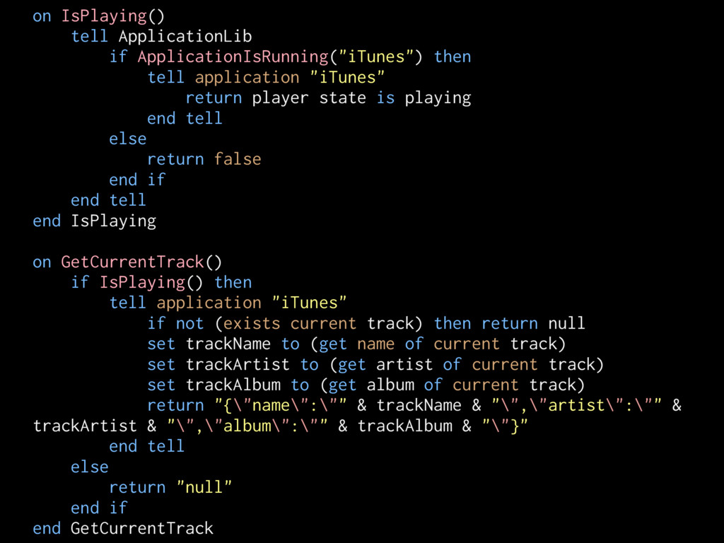 on IsPlaying() tell ApplicationLib if Applicati...